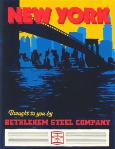 A Bethlehem Steel ad poster from the television series Mad Men