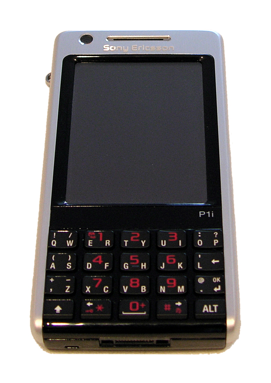 A Sony Ericsson P1i with a physical keyboard as well as a touch screen
